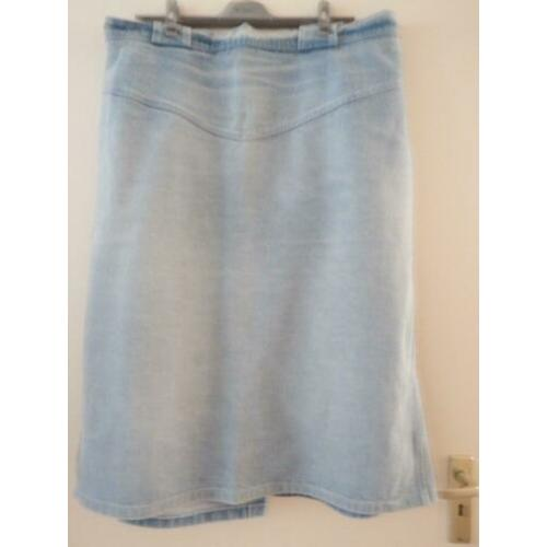 Jeans rok blue used mt.54 (XXL)