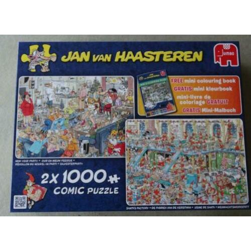 Jan van Haasteren puzzles 2 in 1 doos New Year Party, Santa